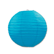 "Beistle Paper Lanterns Turquoise 9.5"" (3 Count)- Pack of 6 - €42,32 EUR"