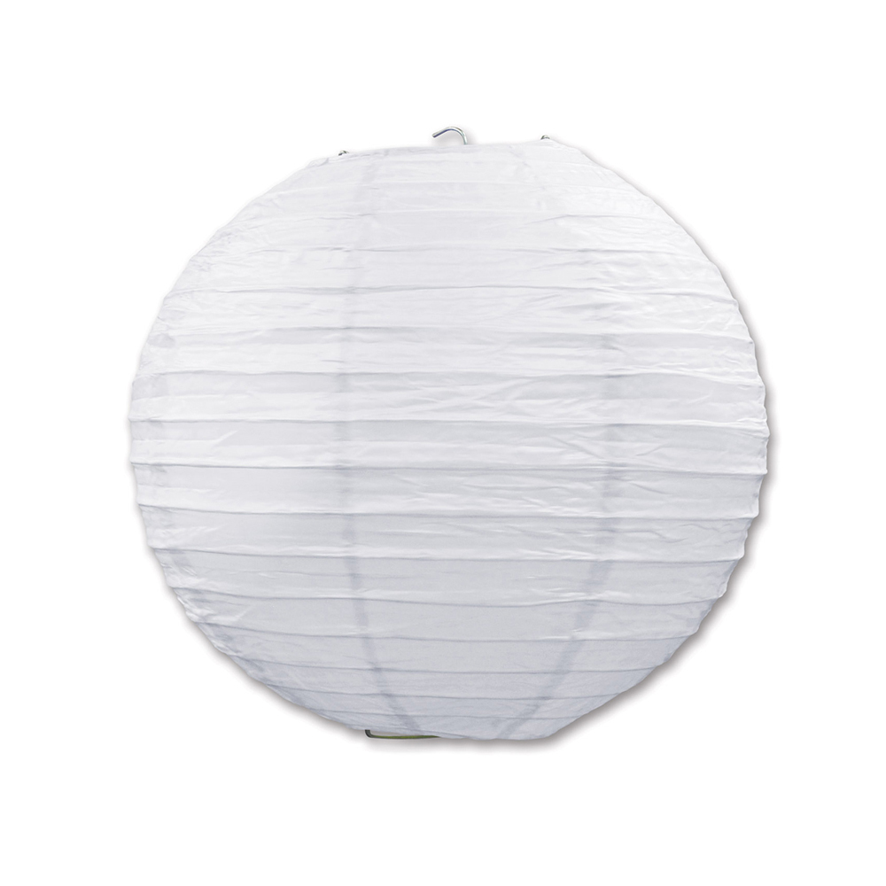 "Beistle Paper Lanterns White 9.5"" (3 Count)- Pack of 6"