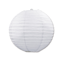 "Beistle Paper Lanterns White 9.5"" (3 Count)- Pack of 6 - $47.68"