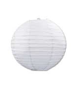 """Beistle Paper Lanterns White 9.5"""" (3 Count)- Pack of 6 - $47.68"""