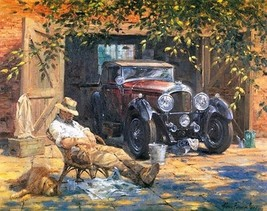 Paint By Numbers DIY Kit Relax Grandpa's Nap Car 40CMx50CM Canvas - $15.35
