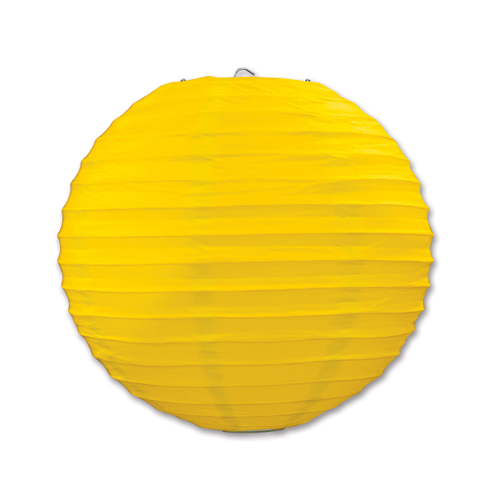 "Beistle Paper Lanterns Yellow 9.5"" (3 Count)- Pack of 6"