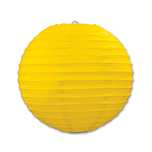 "Beistle Paper Lanterns Yellow 9.5"" (3 Count)- Pack of 6 - $47.68"
