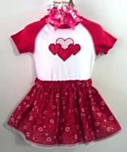 Infant Bodysuit, Skirt & Barrette - Red Hearts for Valentine? - Size 18 mo - $19.95