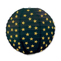 "Beistle Star Paper Lanterns Black & Gold 9.5"" (3 Count)- Pack of 6 - €46,05 EUR"
