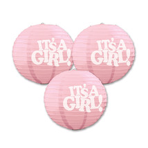 "Beistle It's A Girl Paper Lanterns 9.5"" (3 Count)- Pack of 6 - €46,05 EUR"
