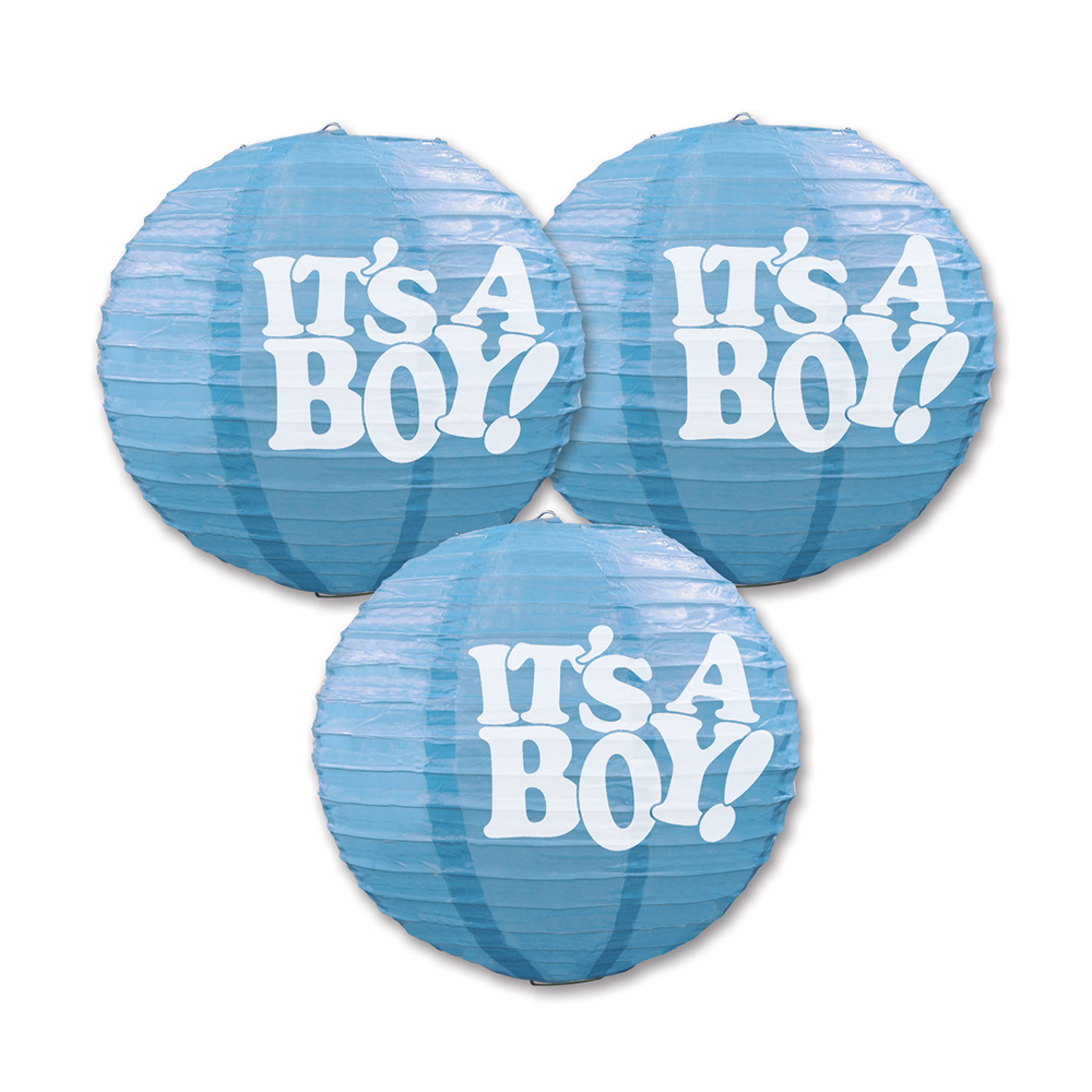 "Beistle It's A Boy Paper Lanterns 9.5"" (3 Count)- Pack of 6"