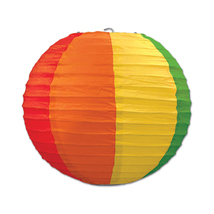 "Beistle Rainbow Paper Lanterns 9.5"" (3 Count)- Pack of 6 - $51.88"