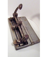 Steel Three Hole Punch 1950s Master 1000, Made in USA Vintage Office - $49.99