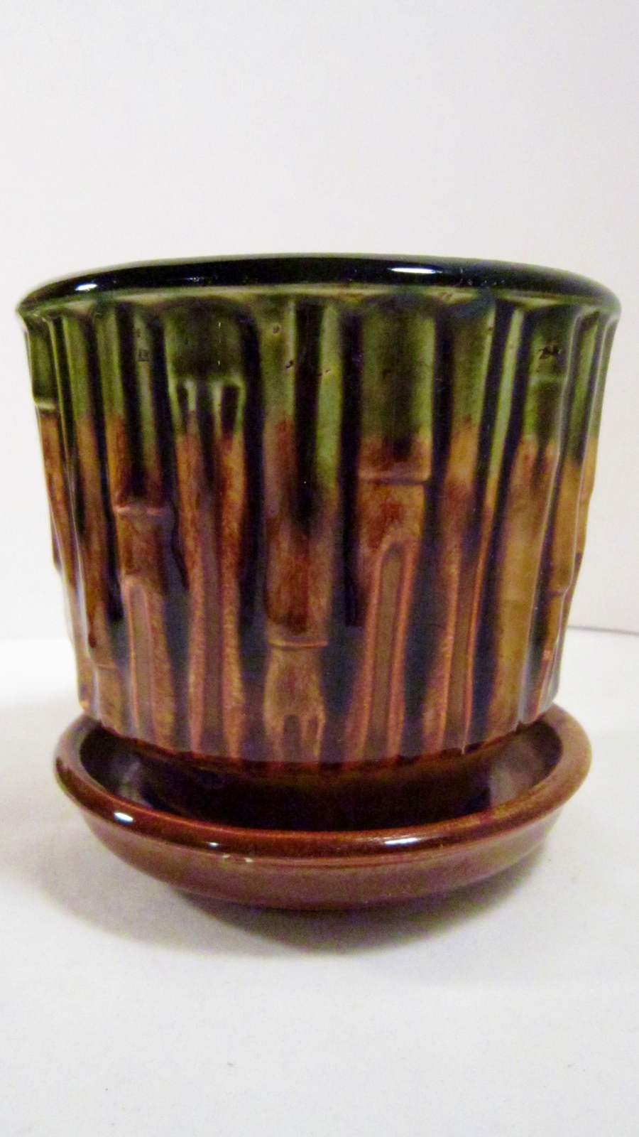 Mccoy planter bamboo design flower pot 06