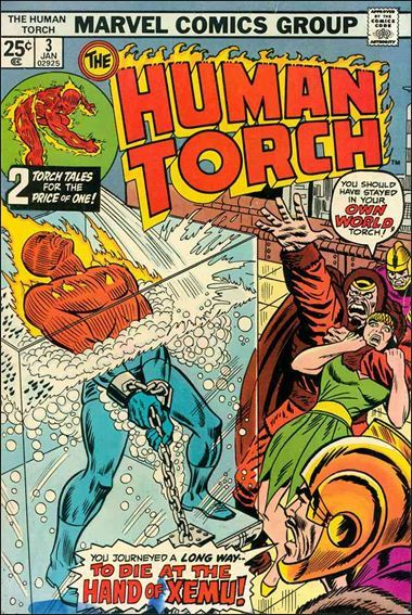 Marvel THE HUMAN TORCH (1974 Series) #3 VG+