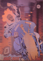 1992 Marvel Universe Hologram #H-5 Ghost Rider Insert Card NM/M Condition Impel - $3.59