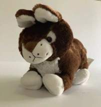 """Best Made Toys Plush Brown White Bunny Rabbit Laying Stuffed Animal Toy 10""""  - $9.99"""