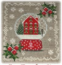 Snow Place Like Home snow globe cross stitch chart Grandma Kringle's Needleworks - $10.80