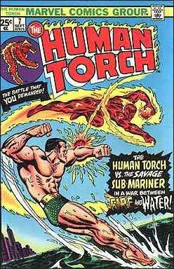Marvel THE HUMAN TORCH (1974 Series) #7 FN+