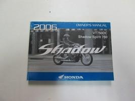 2006 Honda VT750DC Shadow Spirit 750 Owners Operators Owner Manual - $54.44