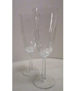 Cristal d'Arques Champagne Flute Diamant Pattern Stemmed Crystal Glass - $15.99