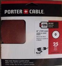 """Porter Cable 736001225 6"""" H&L Aluminum Oxide 0 Hole 120G Disc 25pcs. Sandpaper - $8.42"""