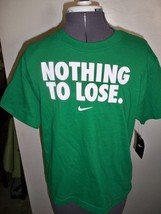 BOY'S YOUTH KIDS NIKE NOTHING TO LOSE TEE T SHIRT GREEN W/ WHITE NEW  - $12.99