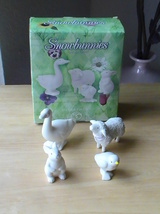 "Dept. 56 1999 Snowbunnies ""Animals On Parade"" Figurines - $20.00"