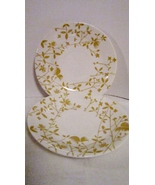 Two Vintage Saucers with Mustard Colored Flower... - $2.99