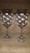 Beautiful Snowflake Wine Goblet Set - $15.00