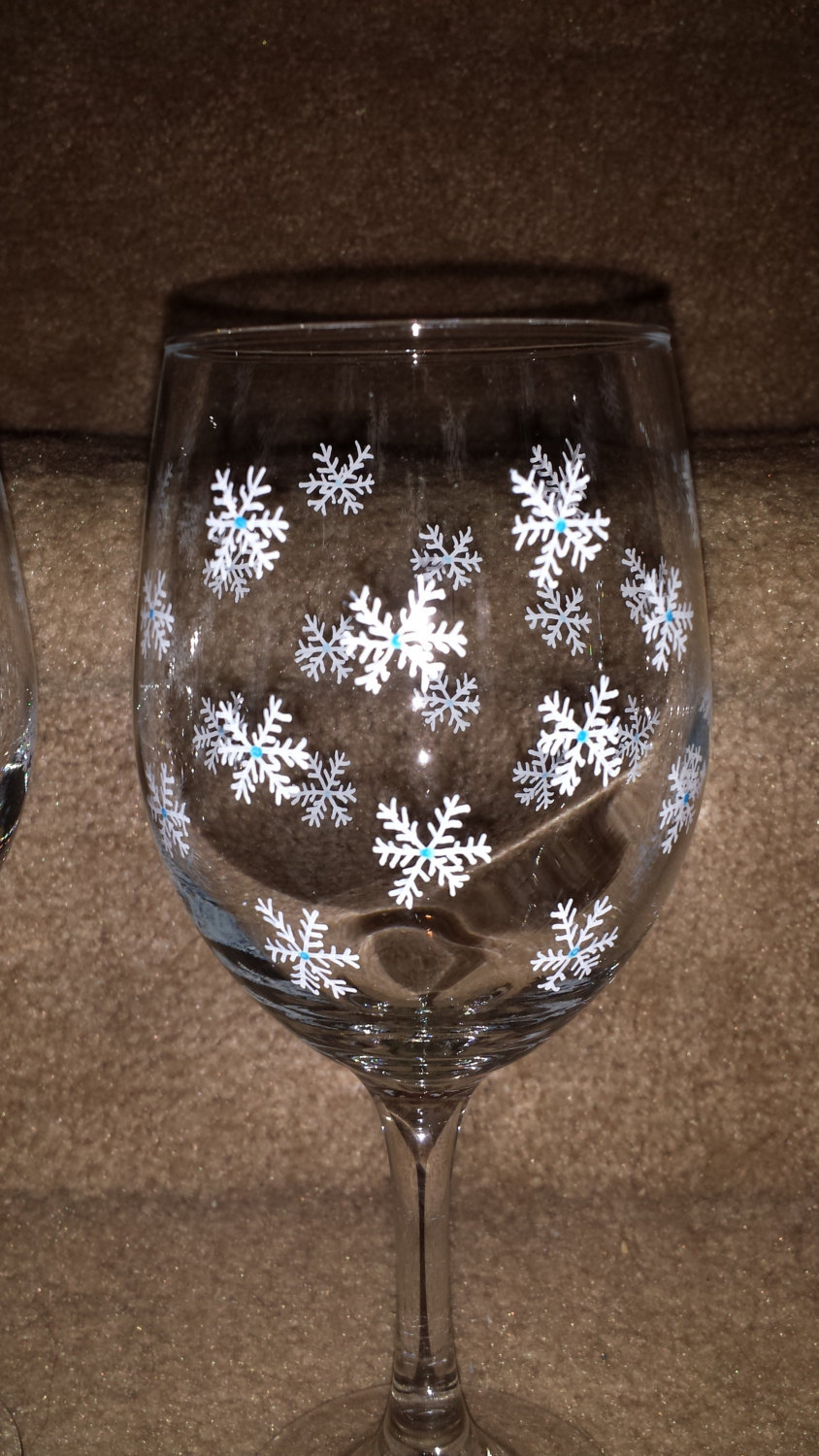 Beautiful Snowflake Wine Goblet Set