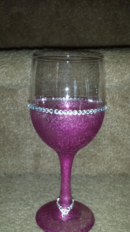 Pink Bling Wine Goblet set
