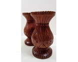Set of carved wood candle holders for tapers 01 thumb155 crop