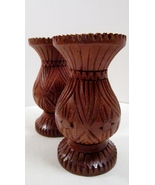 Hand Turned and Carved Wood, Set of 2 Candle Holders for Tapers - $7.99