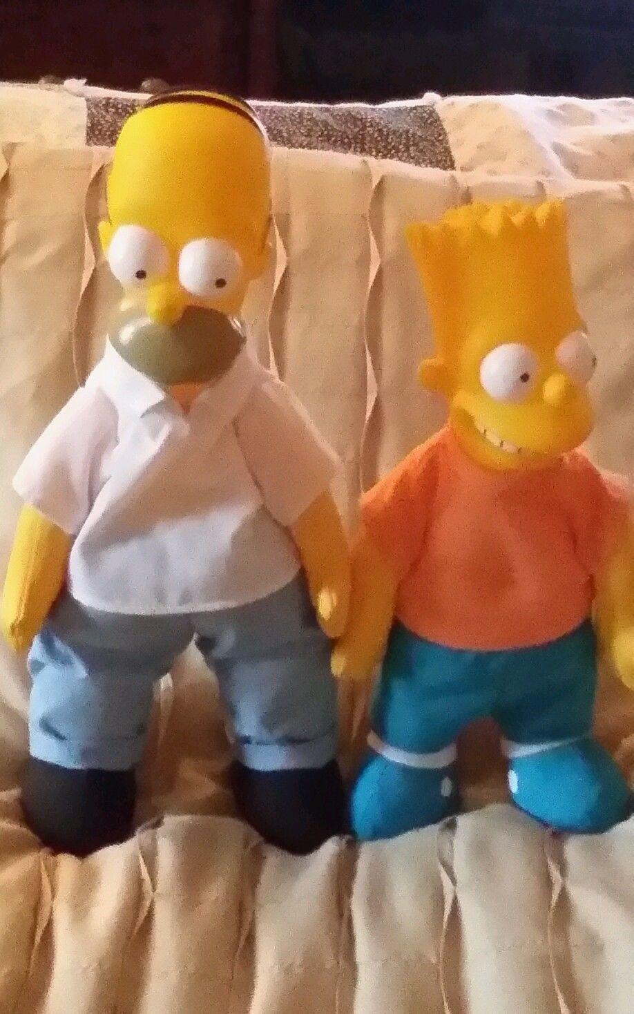 Homer Amp Bart Simpson Dolls Vtg 1990 Simpsons