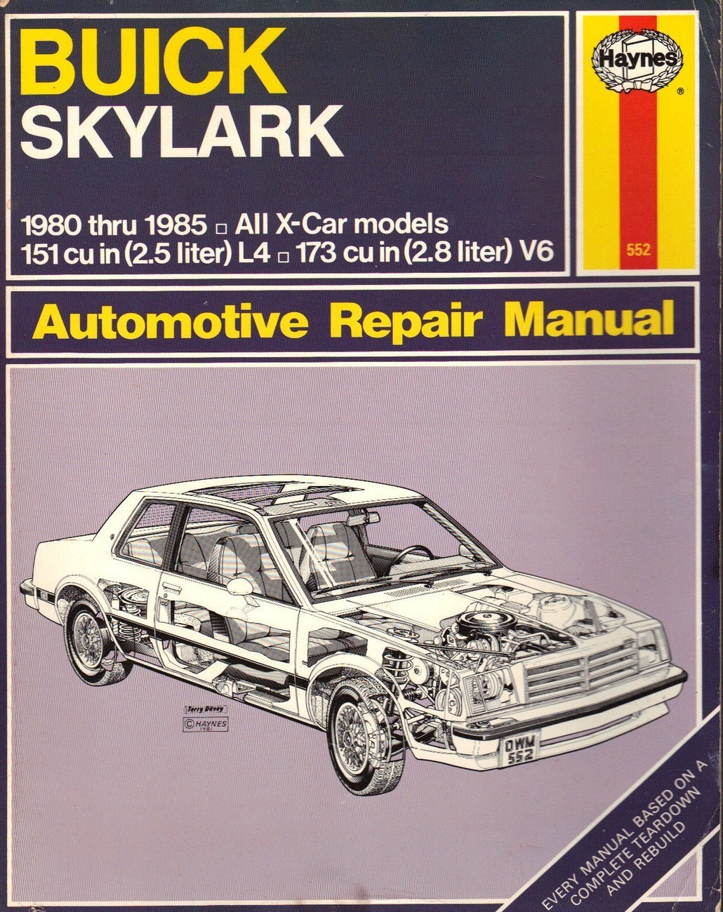 buick skylark x cars 1980 to 1985 haynes automotive repair