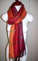 weaved shawl, mix Babyalpaca wool and Silk fabric - $89.00