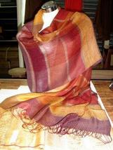 weaved shawl,mix of Babyalpaca wool and Silk wrap  - $96.00