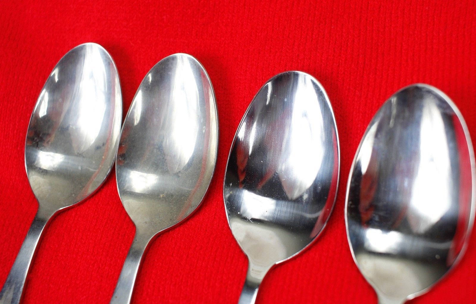 4X Teaspoons Spoons International Silver Cirque Stainless Glossy Flatware 6""