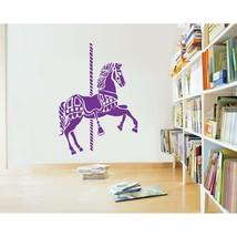 Merry Go Round Carousel Horse Vinyl Wall Sticker - $49.99