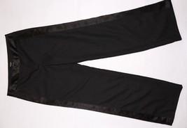 EXPRESS Casual Dress Suit Pants Women's WOOL 5/6 BLACK Striped Stretch W... - $16.79