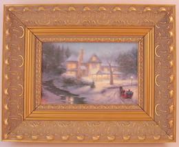 Thomas Kinkade Chiaroscuro Moonlit Sleigh Ride Framed Print 1992 - $66.82