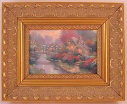 Thomas Kinkade Lamplight Bridge Framed Print Canvas Board - $66.82