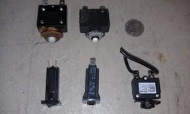 5 Aa44 Set Of 5 Asstd Circuit Breakers: (3) 32 Vdc 15 A,  250 Vac: (1) 15 A, (1) 20 A - $13.55