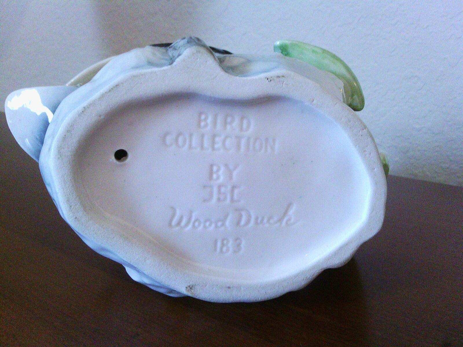 Vintage Glazed Ceramic Wood Duck by JSC Bird Collection