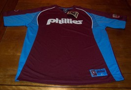 VINTAGE STYLE PHILADELPHIA PHILLIES MLB STITCHED JERSEY LARGE NEW w/ TAG - $54.45