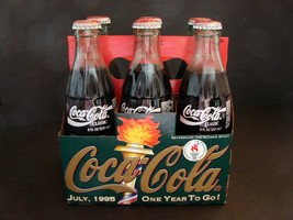 SIX PACK Coca-Cola  One Year To Go Atlanta Olympics July 1995 -  Unopened - $16.82