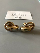 Vintage Coro Signed Goldtone Earrings Condition Issue - $8.90