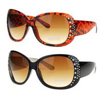 Womens Rhinestone Butterfly Diva Rectangular Designer Fashion Plastic Su... - $6.95