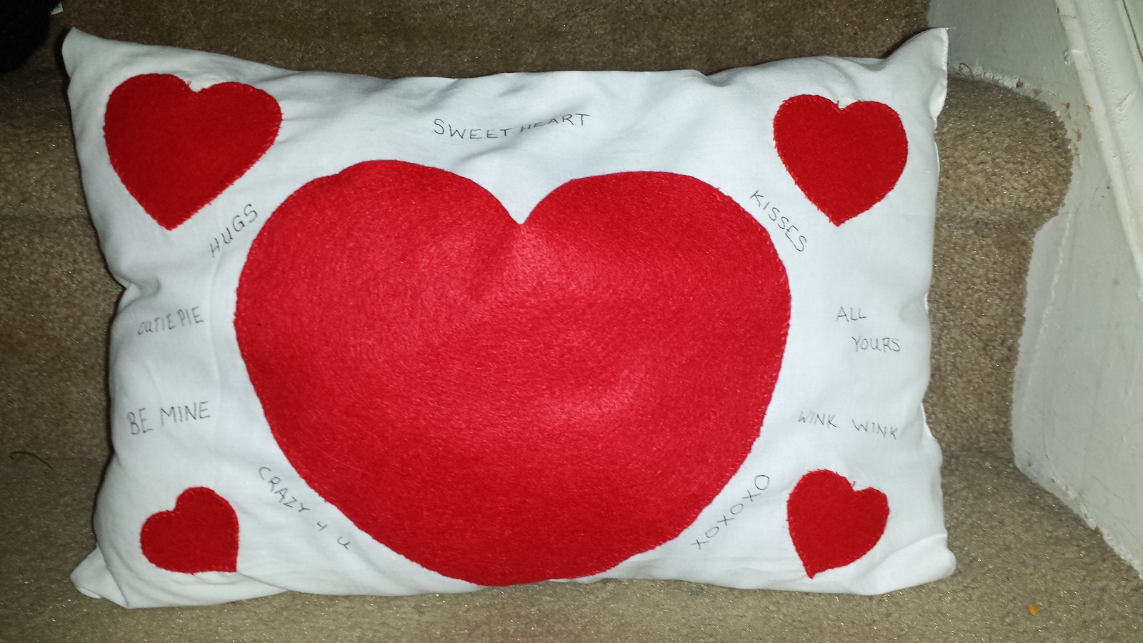 Valentine pillow  1
