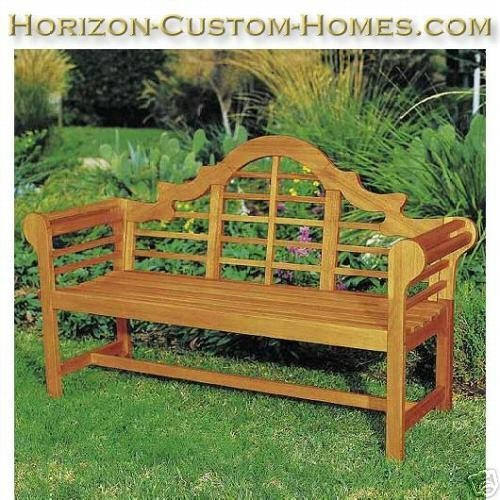 Teak Wood Hardwood Patio Outdoor Garden Lutyens Bench