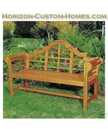 Teak Wood Hardwood Patio Outdoor Garden Lutyens Bench - $349.00