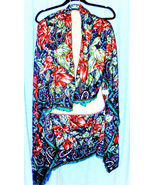 """PAISLEY FLOWERED SCARF by Barr & Beard 46"""" Square Italy Polyester - $9.95"""
