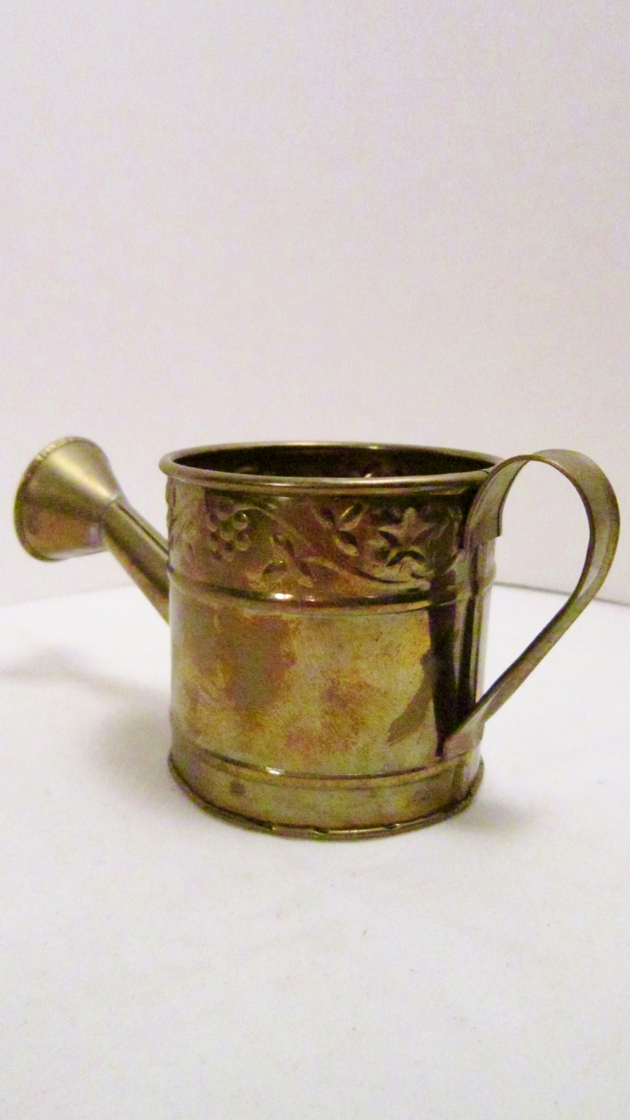 Miniature brass watering can 07